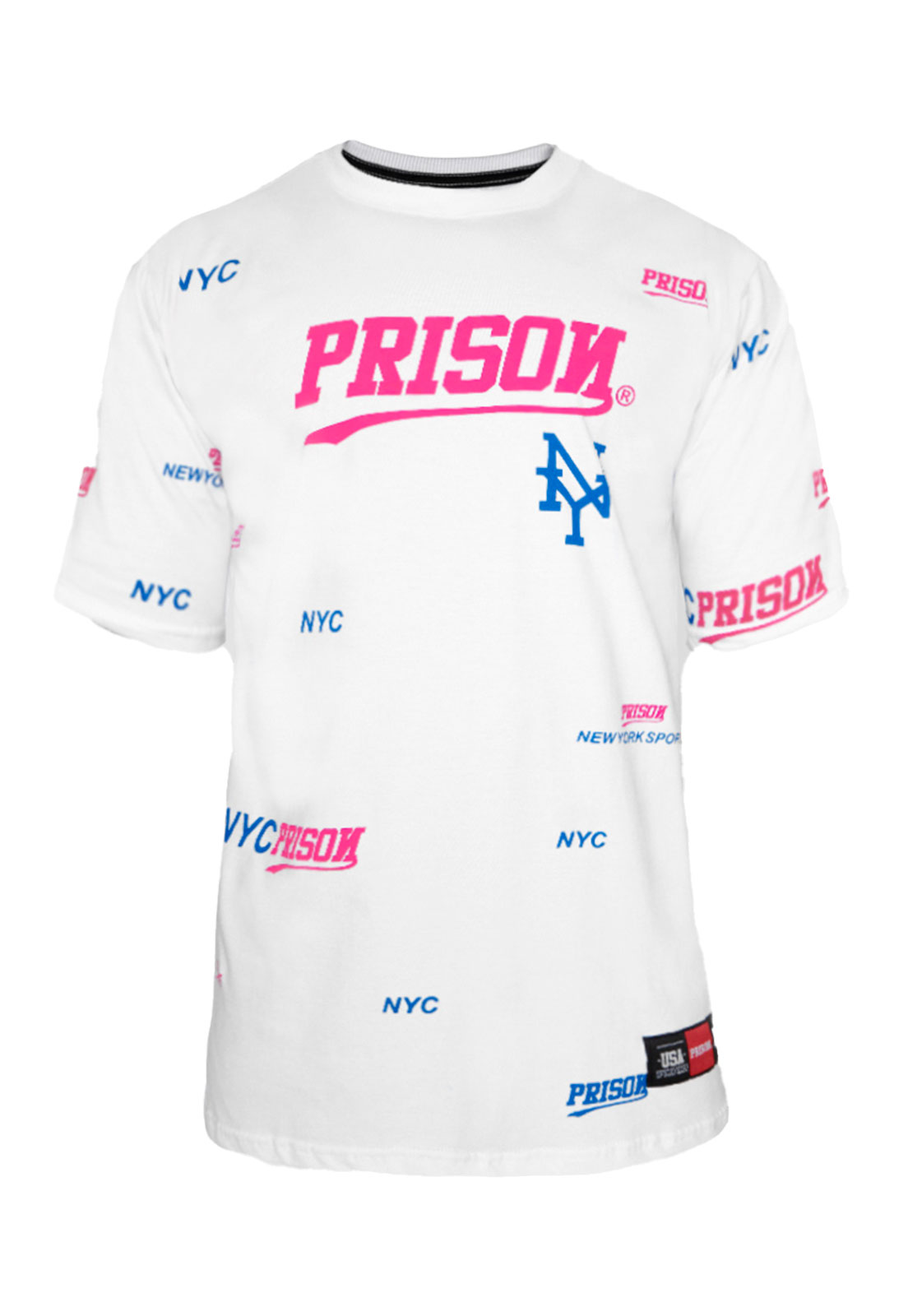 Camiseta Prison NYC Sports Branca