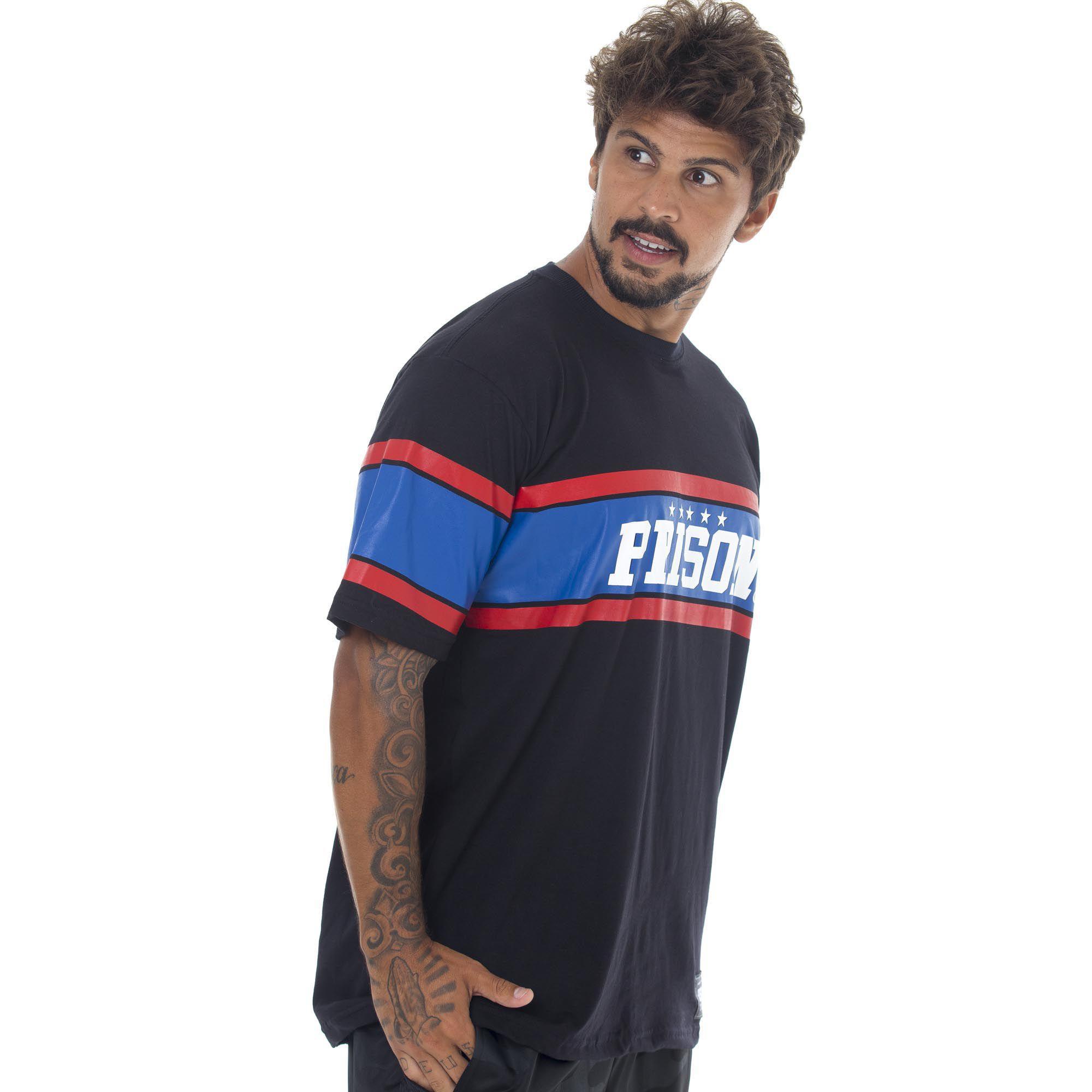 Camiseta Prison Nyc Stars Preta