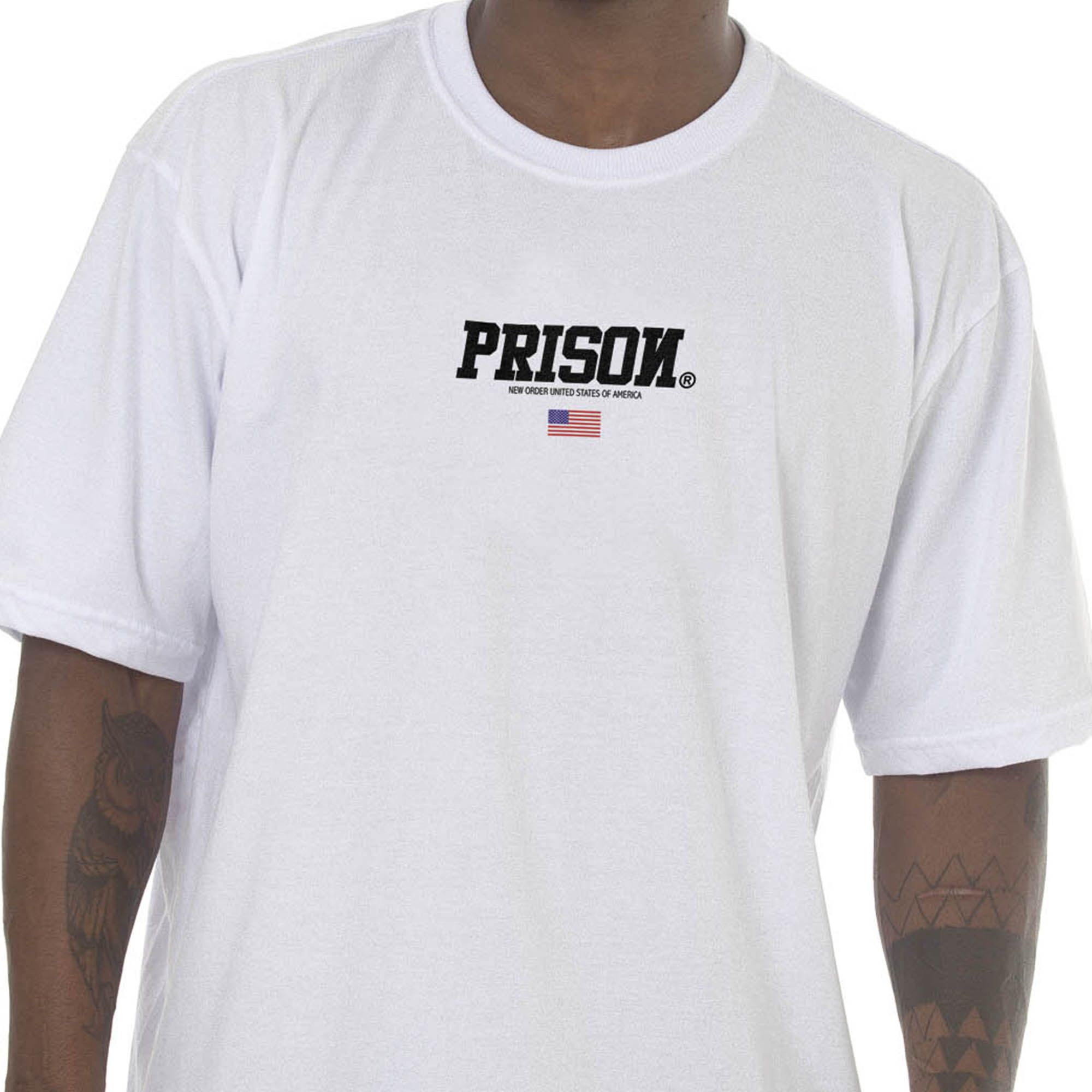 Camiseta Prison Off Usa Branca