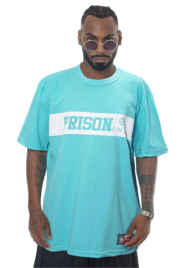 Camiseta Prison One Stripe Azul
