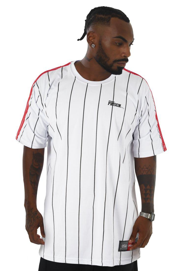 Camiseta Prison Original Stripes Branca