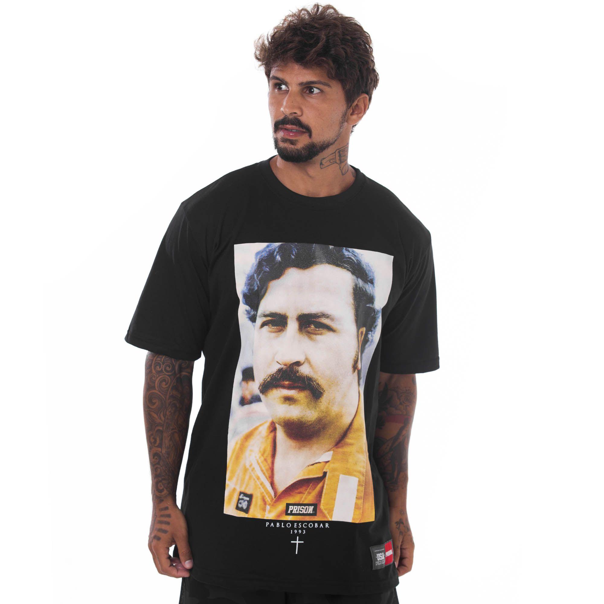Camiseta Prison Pablo Escobar Preta