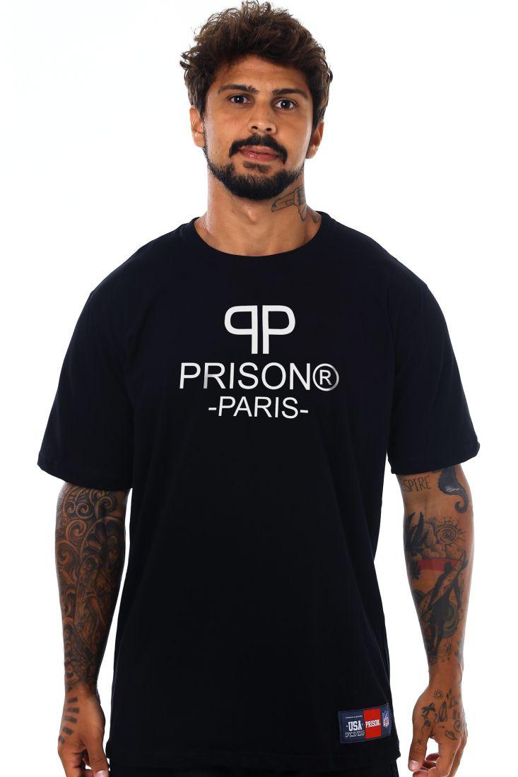 Camiseta Prison Paris Logo Preta