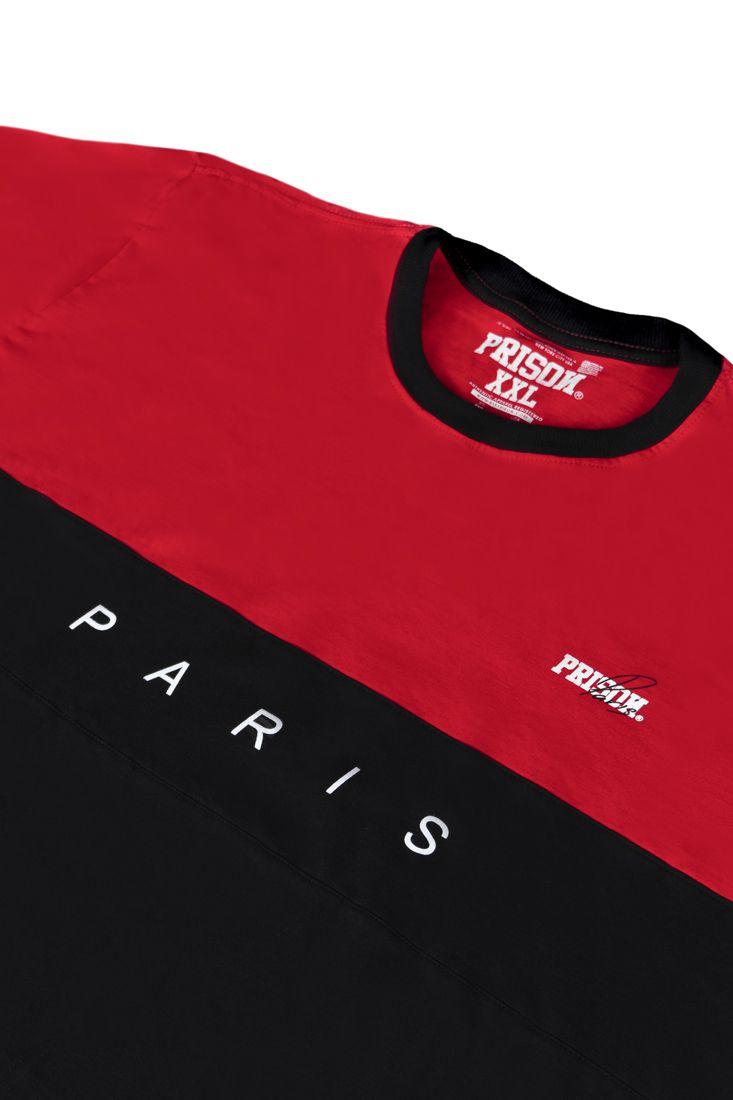 Camiseta Prison Paris Red and Black