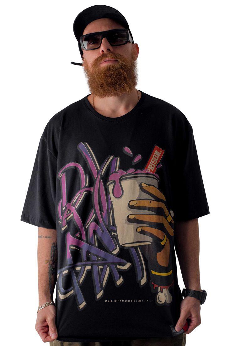 Camiseta Prison Purple Drank Preta