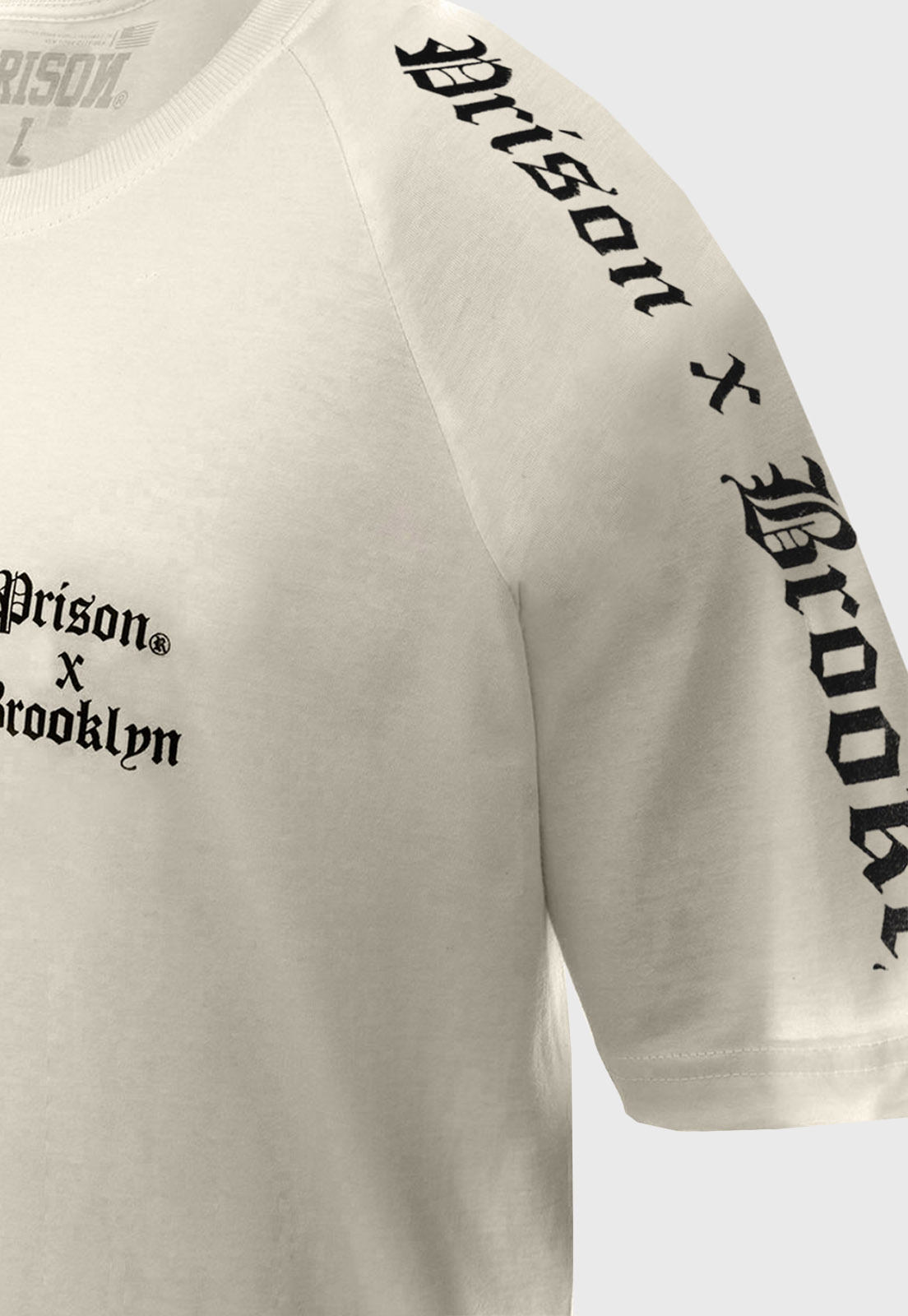 Camiseta Prison Raglan Brooklyn Off white