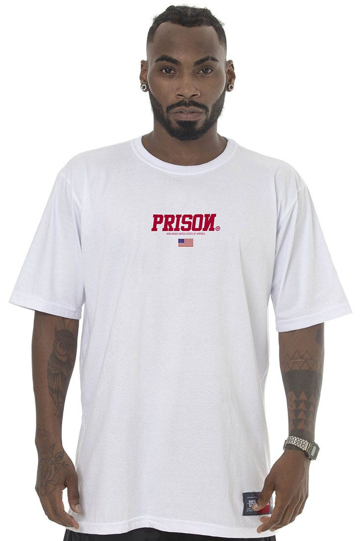 Camiseta Prison Red Usa Branca