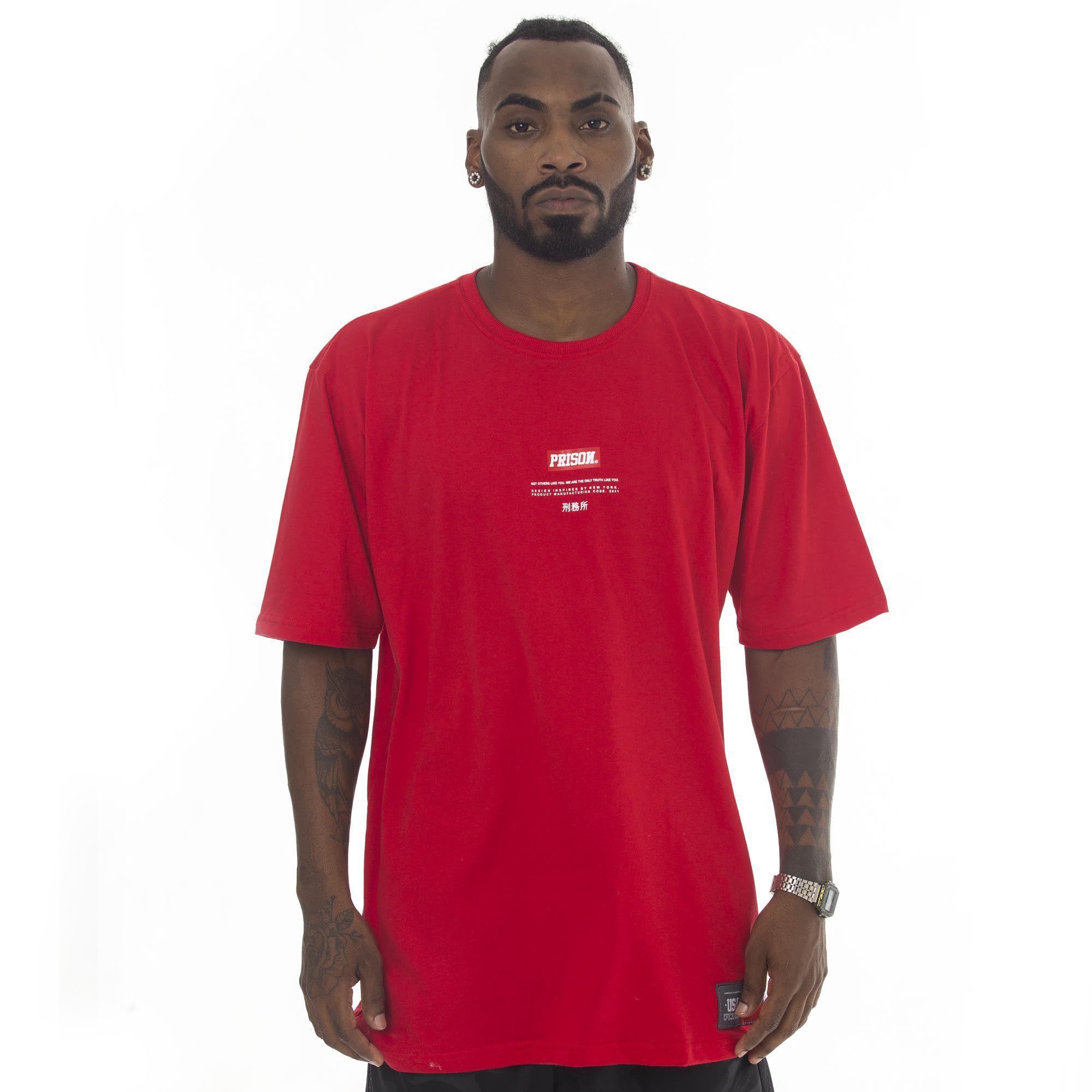 Camiseta Prison Red Vermelha