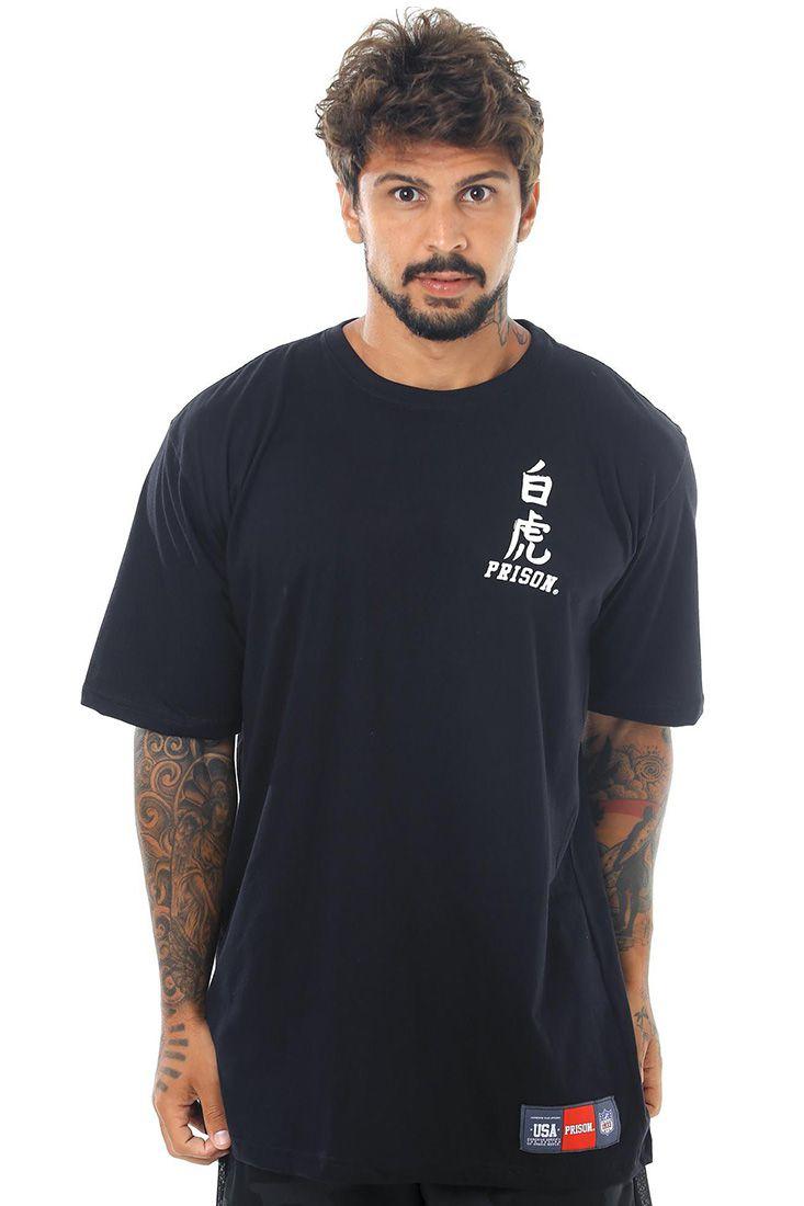 Camiseta Prison Samurai Uzi Preta
