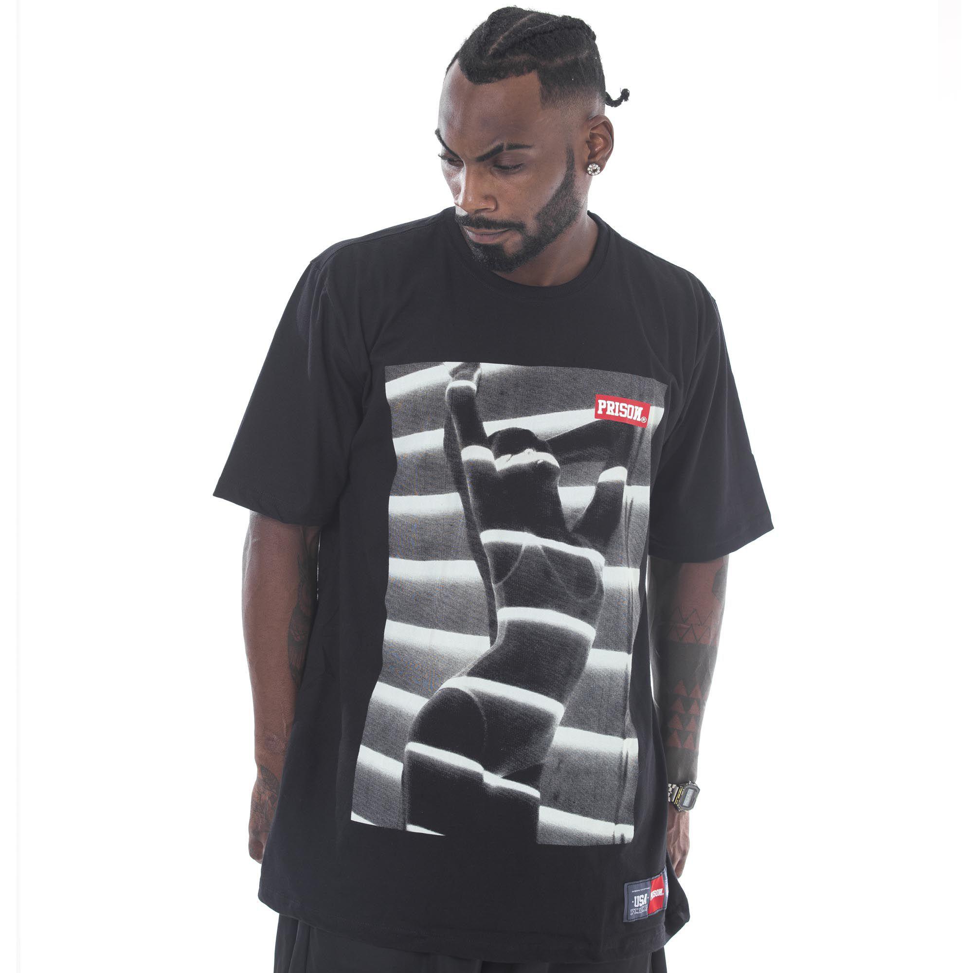Camiseta Prison Secret Spy Preta