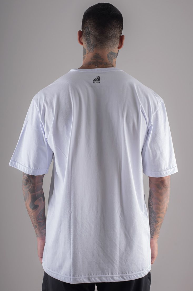 Camiseta Prison Simple Rose branca