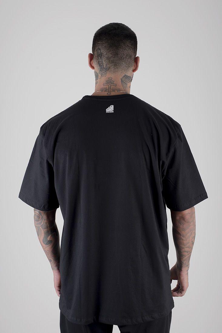 Camiseta Prison Simple Rose Preta