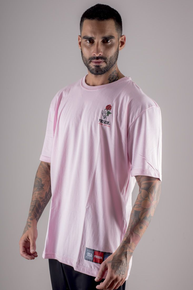Camiseta Prison Simple Rose Rosa
