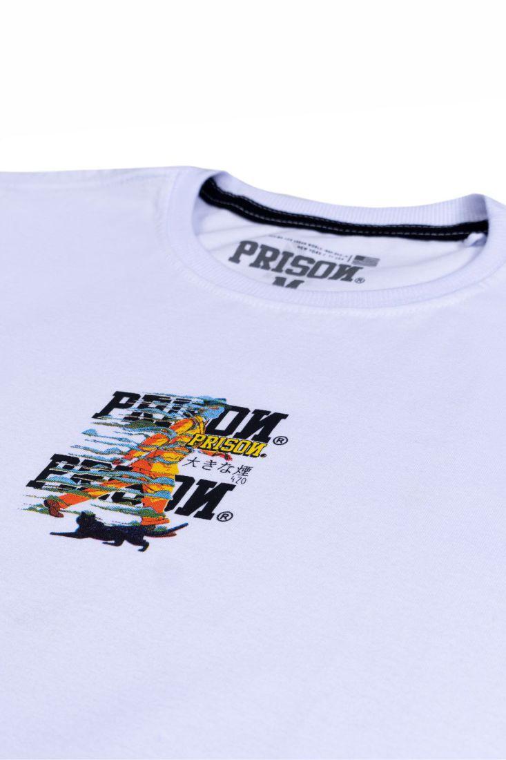 Camiseta Prison Smoke Walk Branca