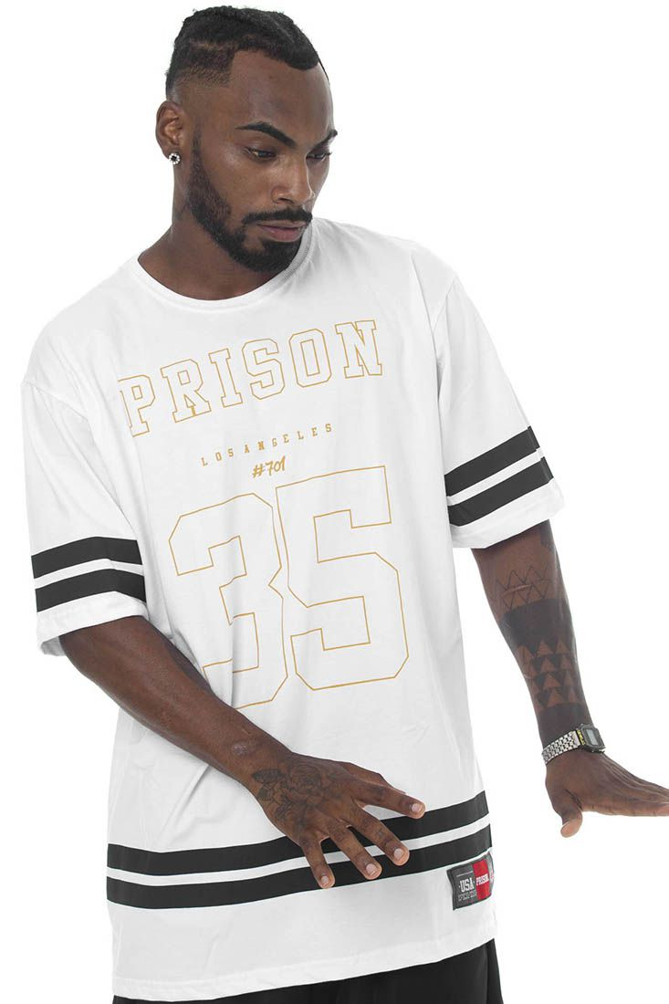 Camiseta Prison Street 35 Branca