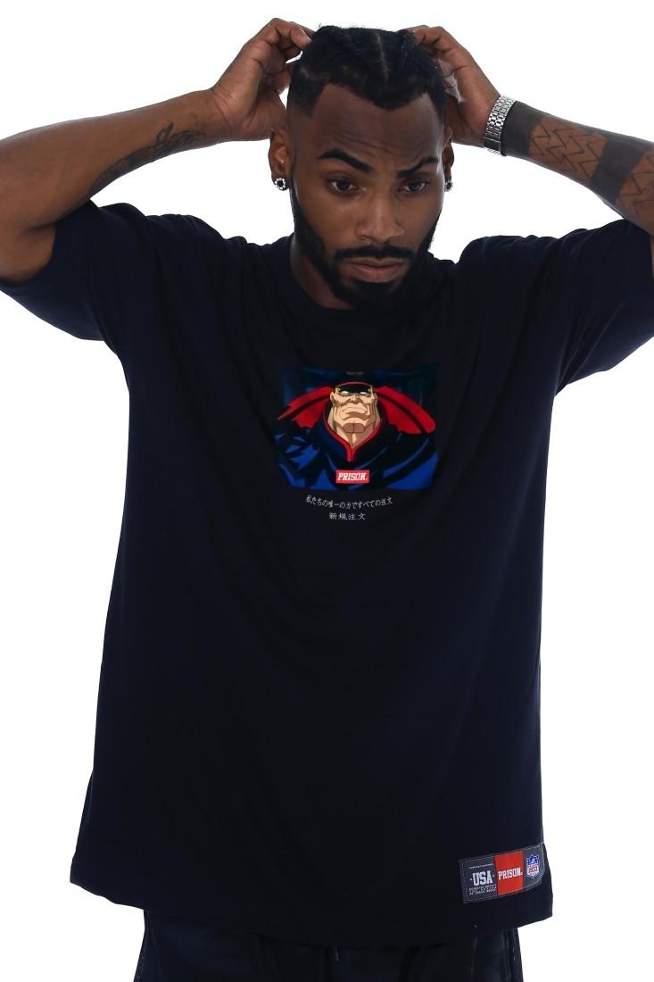 Camiseta Prison Street Bison Preta