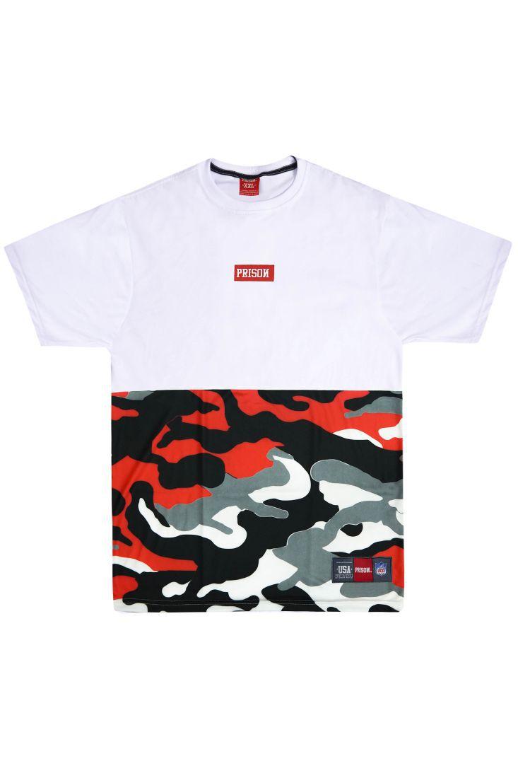 Camiseta Prison Street Camuflada Red
