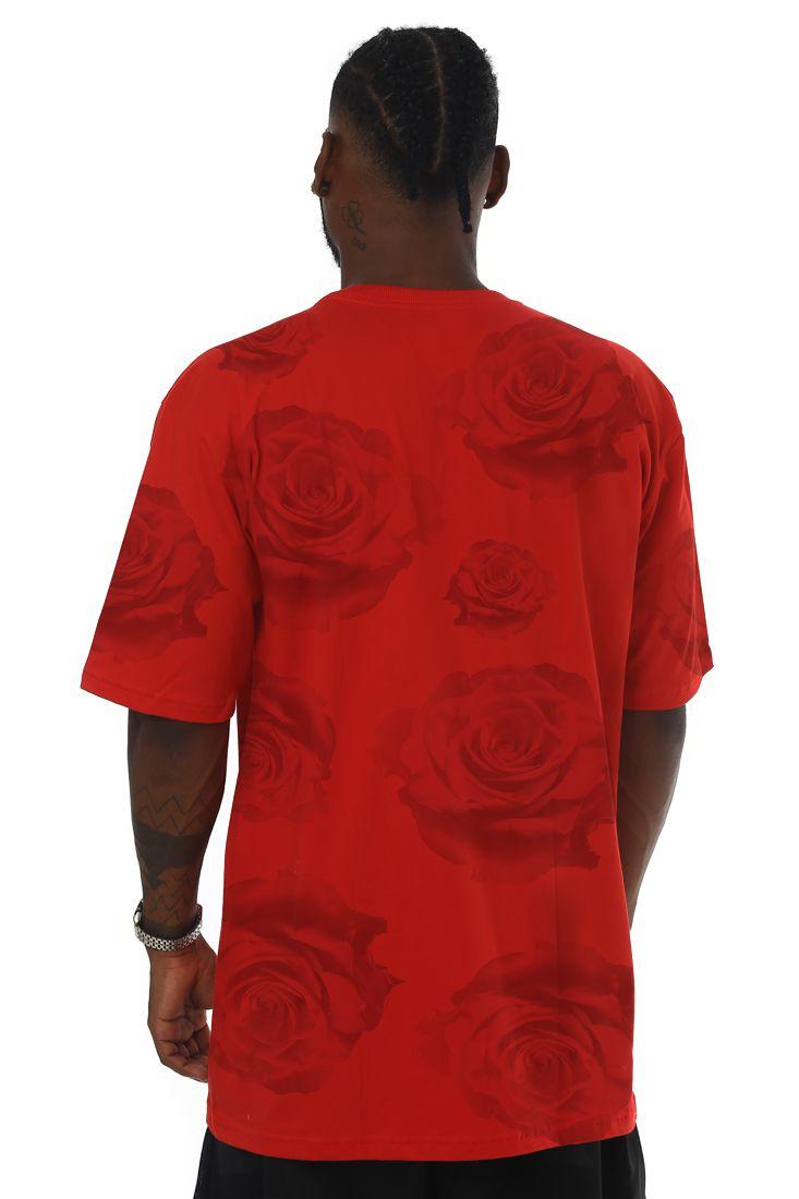 Camiseta Prison Street Roses Vermelha