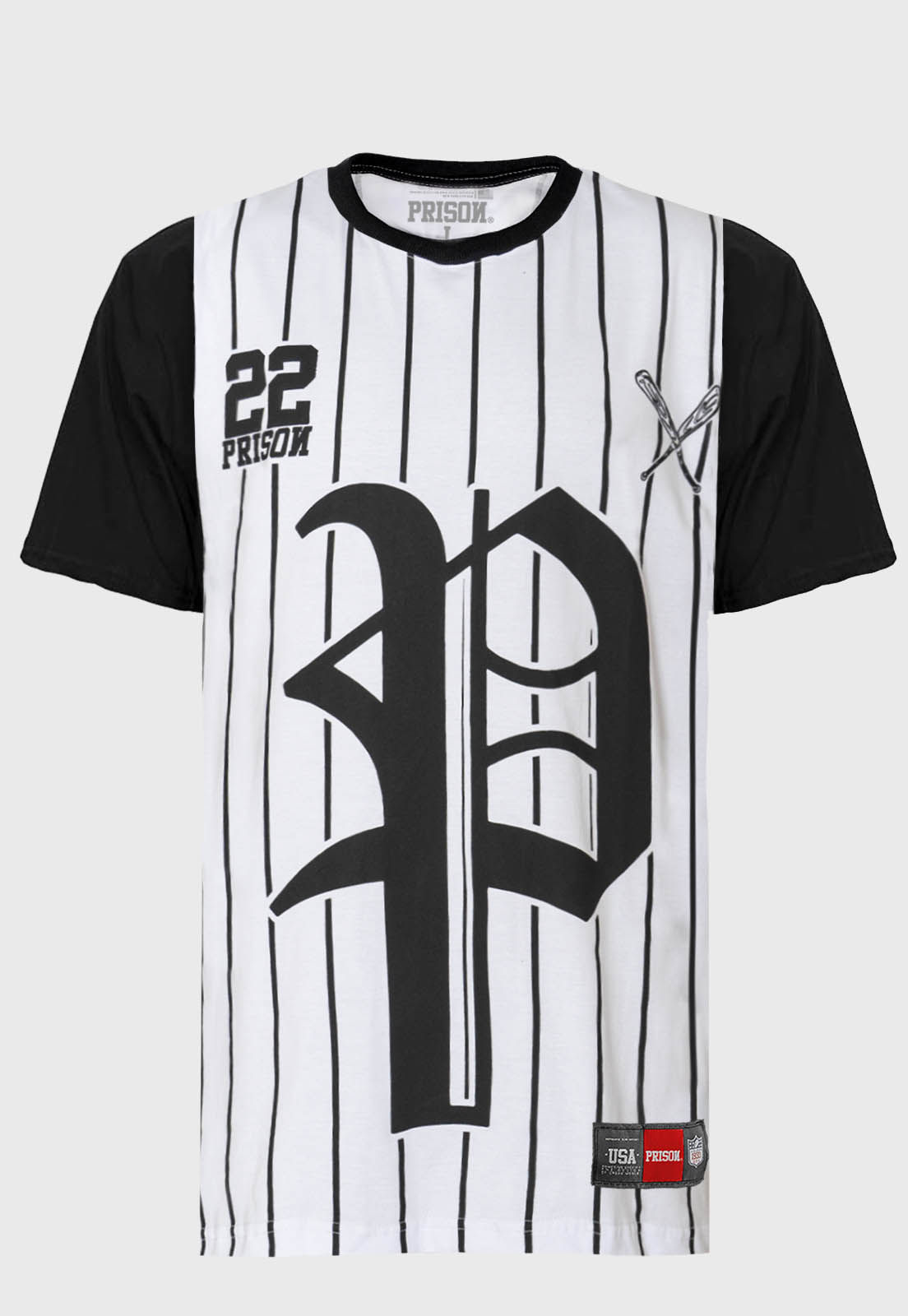 Camiseta Prison Streetwear Baseball 22