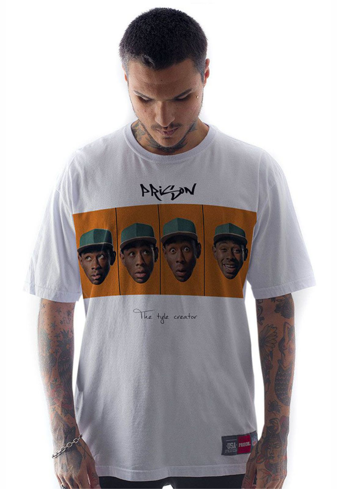 Camiseta Prison Streetwear Creator Branca
