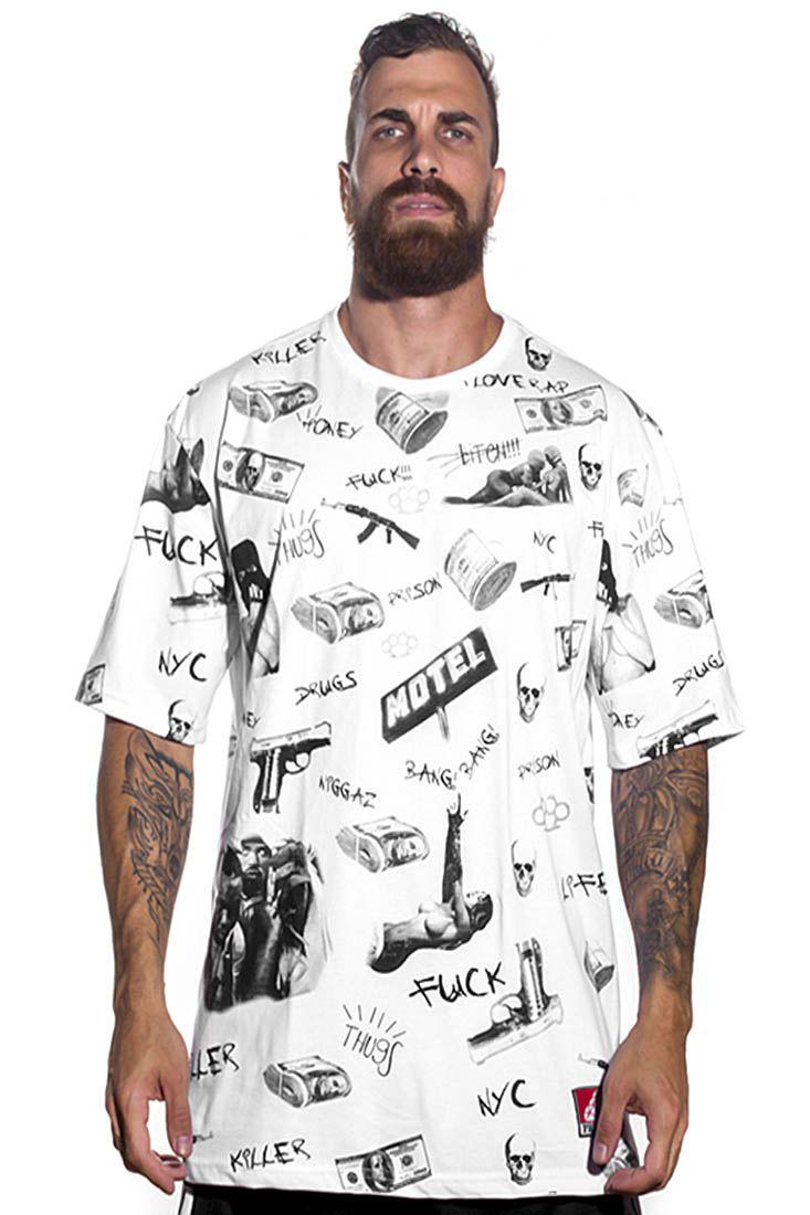 Camiseta  Prison Streetwear Dollar Branca