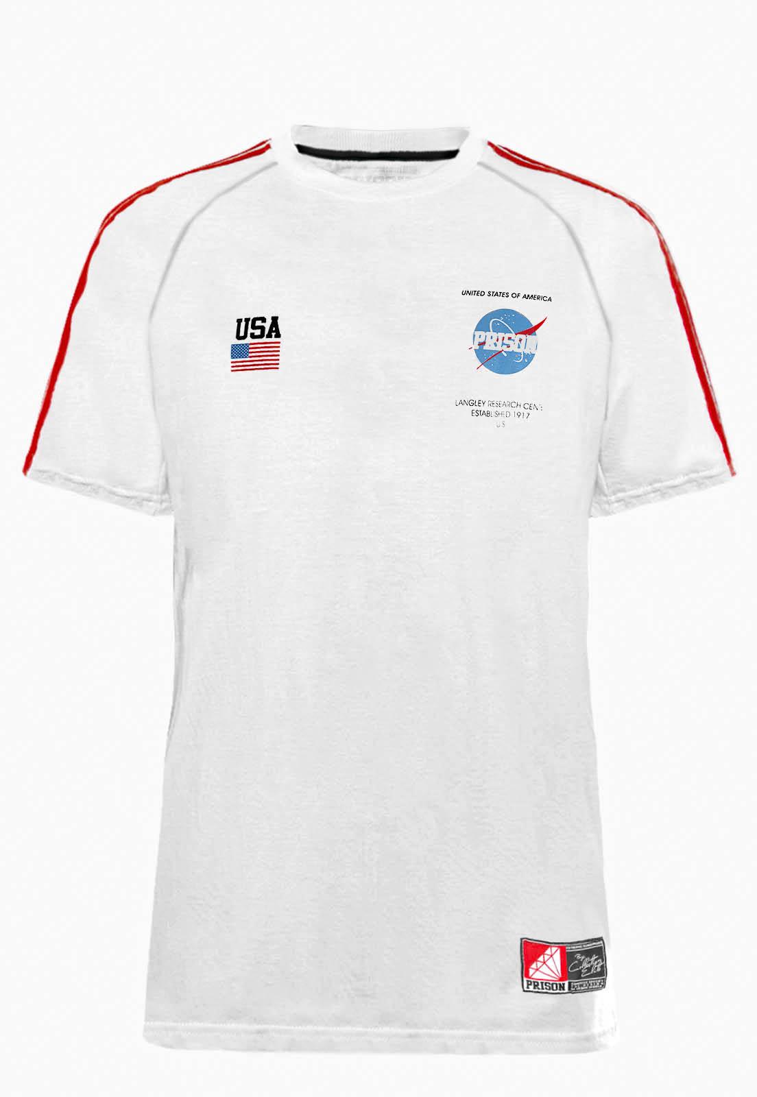 Camiseta Prison Streetwear Nasa Branca