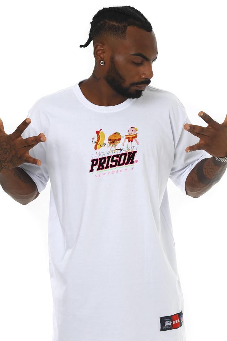 Camiseta Prison Streetwear NY Fast Food Branca