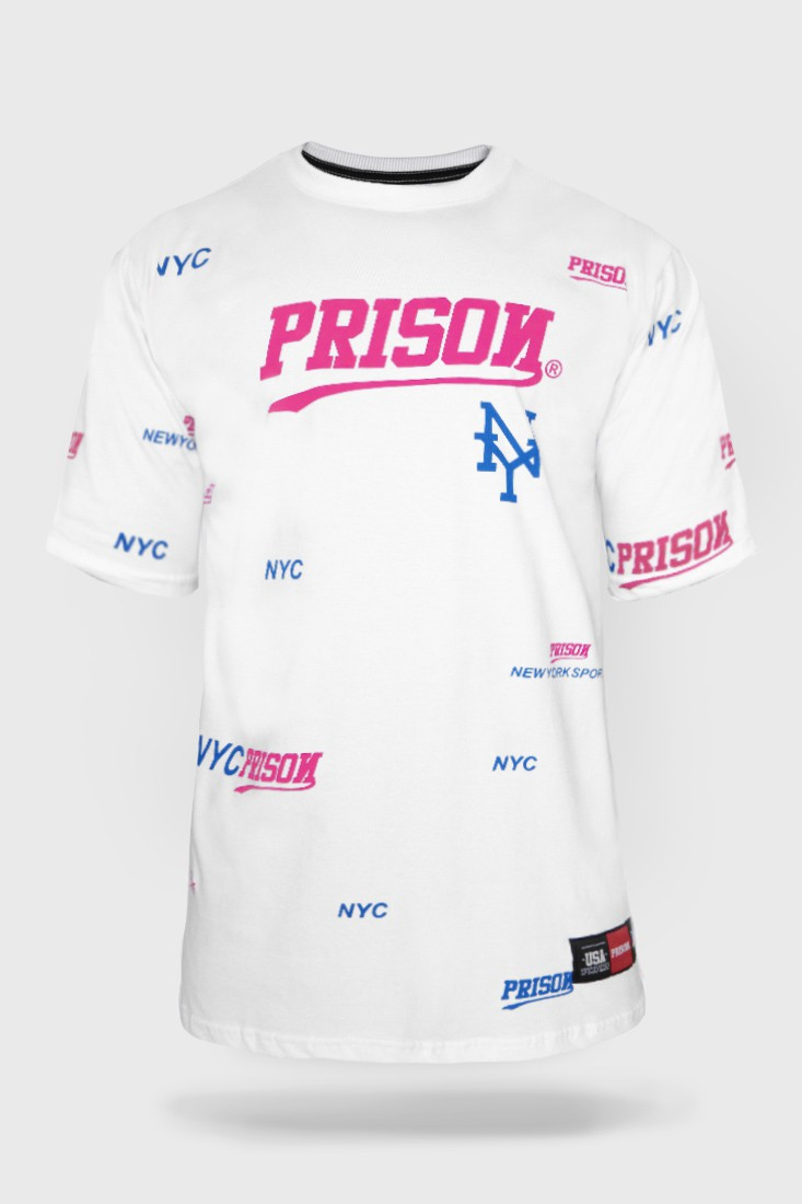 camiseta Prison streetwear NYC Sports Branca