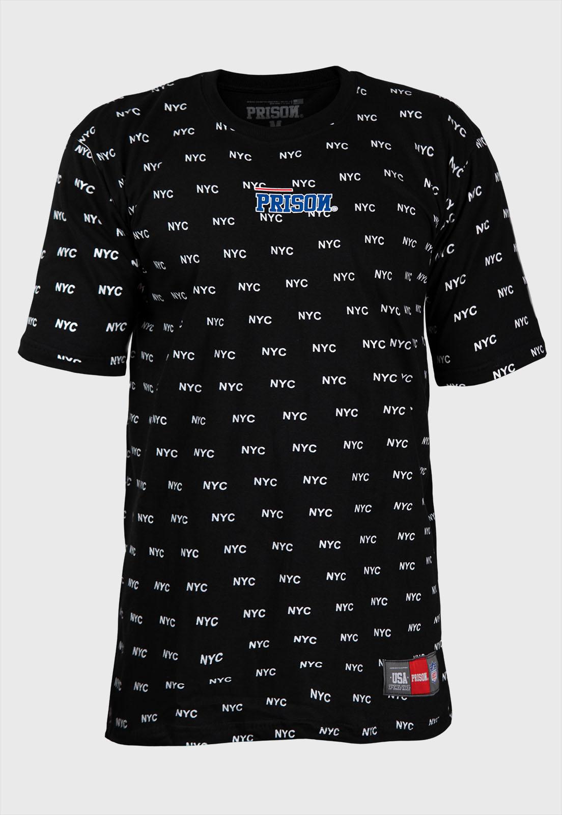 Camiseta prison streetwear nyc total preta