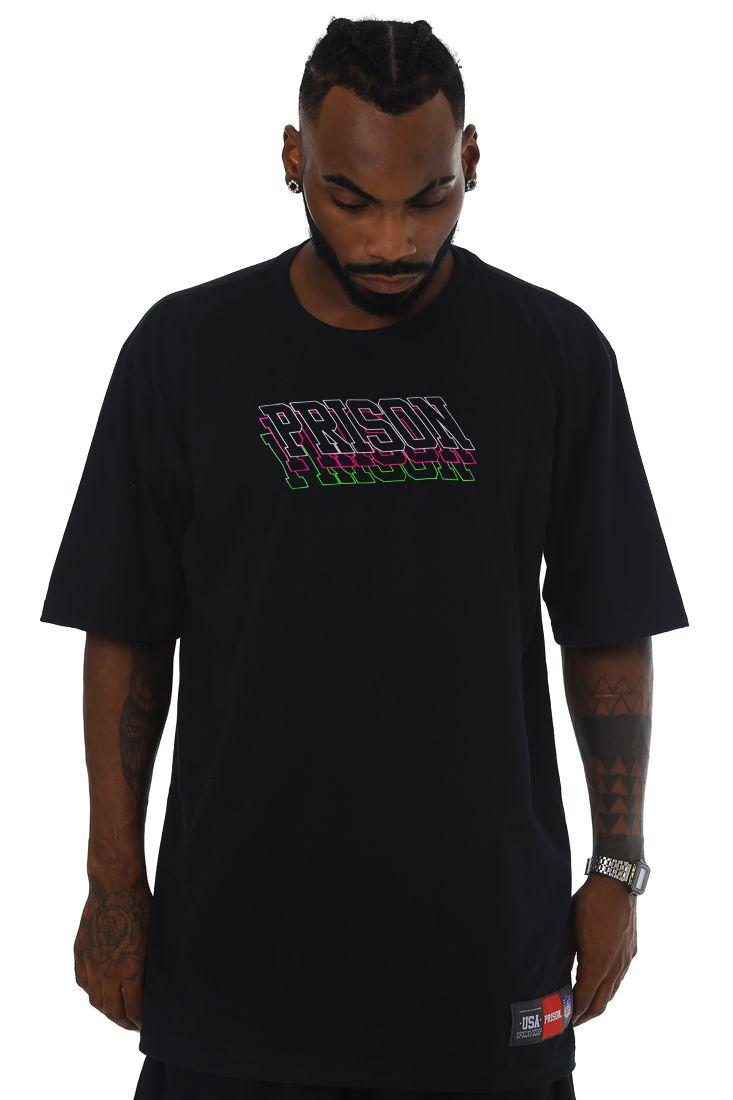 Camiseta Prison Streetwear Triple logo Preta