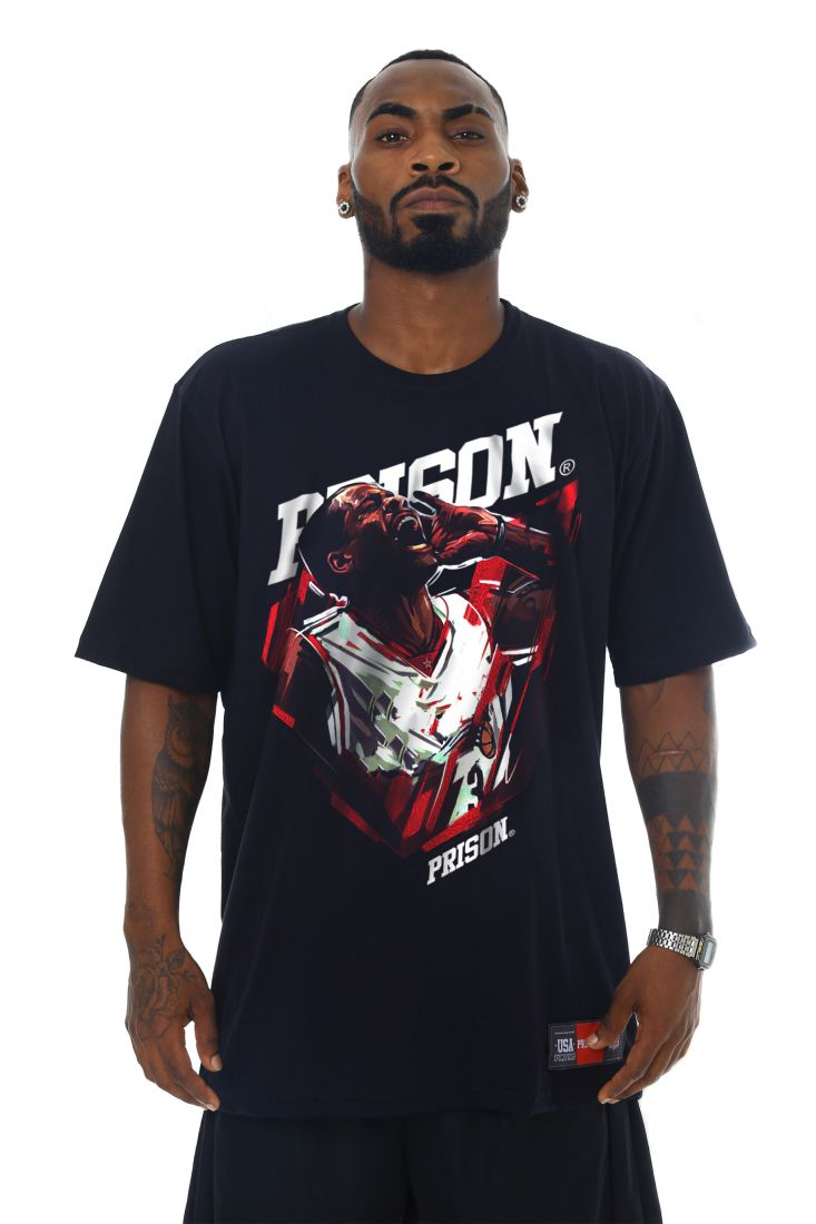 Camiseta Prison The Bulls Star Preta