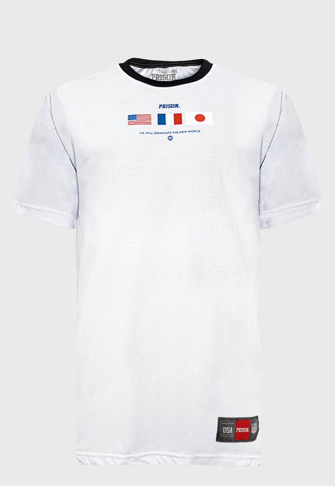 Camiseta Prison The new World Branca