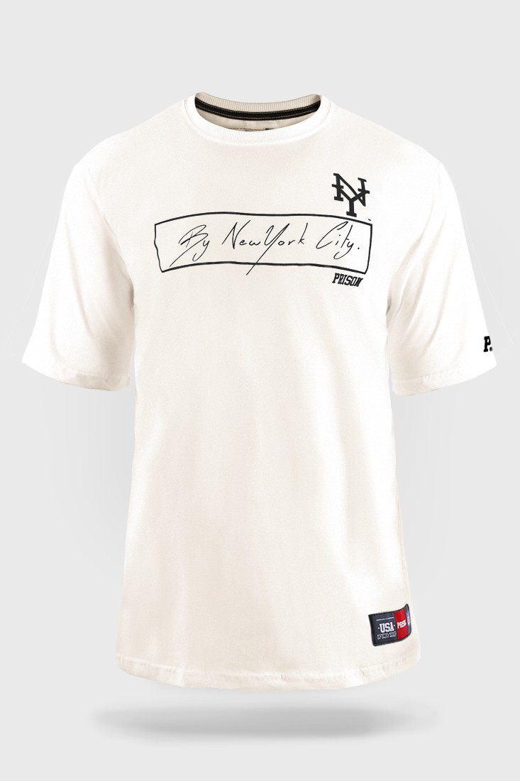 Camiseta Prison The Signature Off White