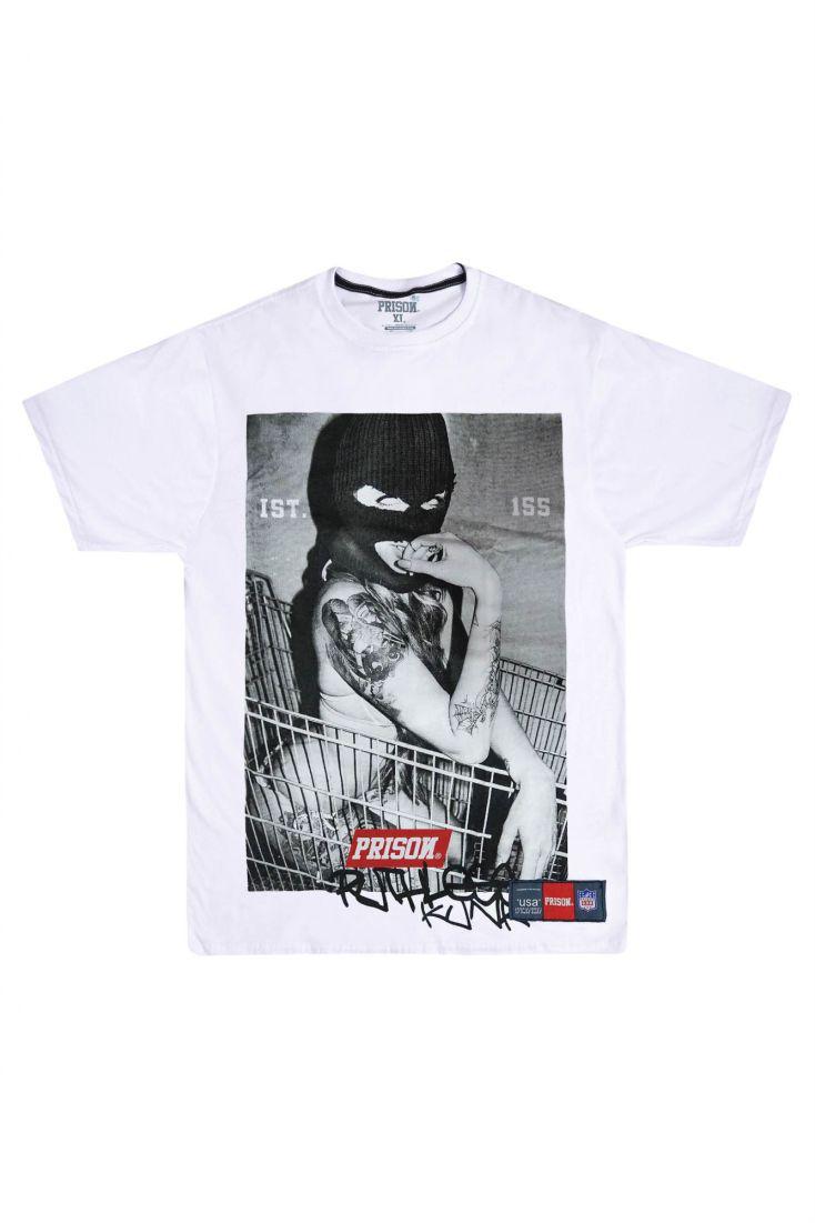 Camiseta Prison Thug Girl Branca