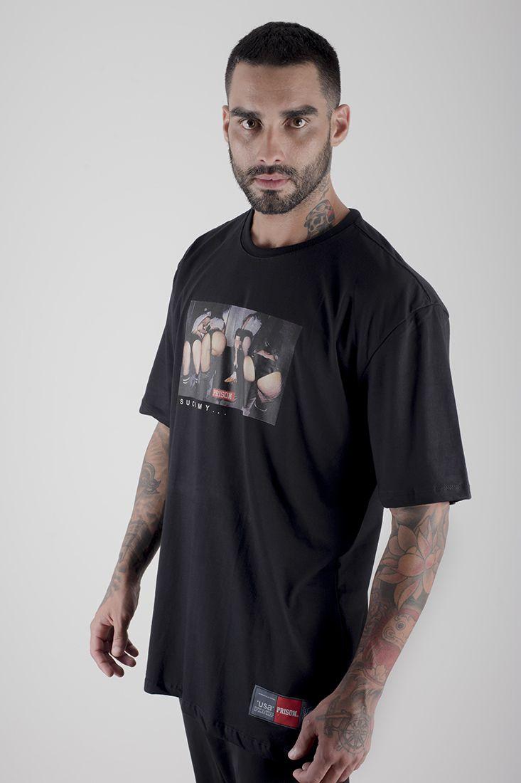 Camiseta Prison Thug Girls Preta