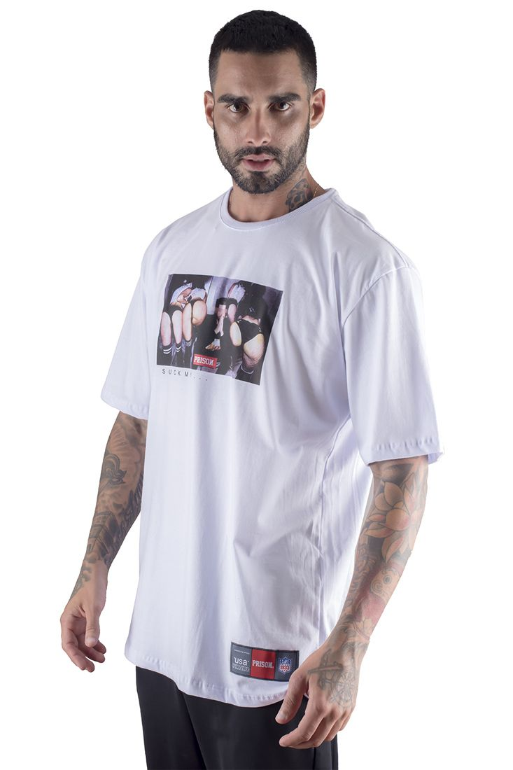 Camiseta Prison Thug King Girls Branca