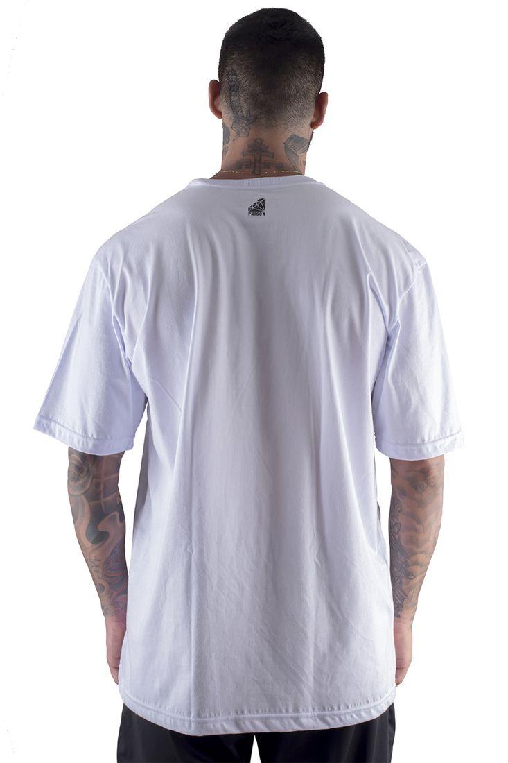 Camiseta Prison Thug Rapper Branca