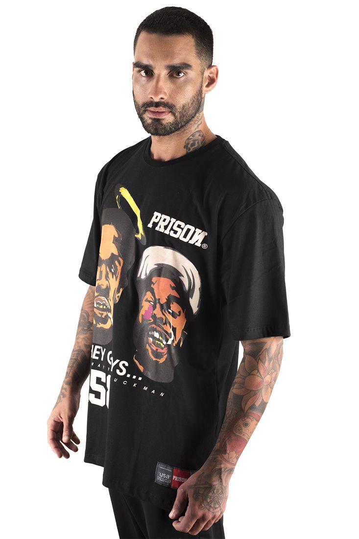 Camiseta Prison Thug Rapper Preto