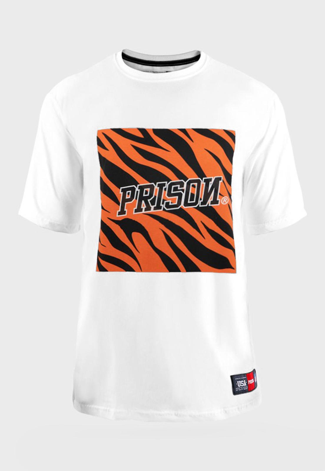 Camiseta Prison Tiger Branca