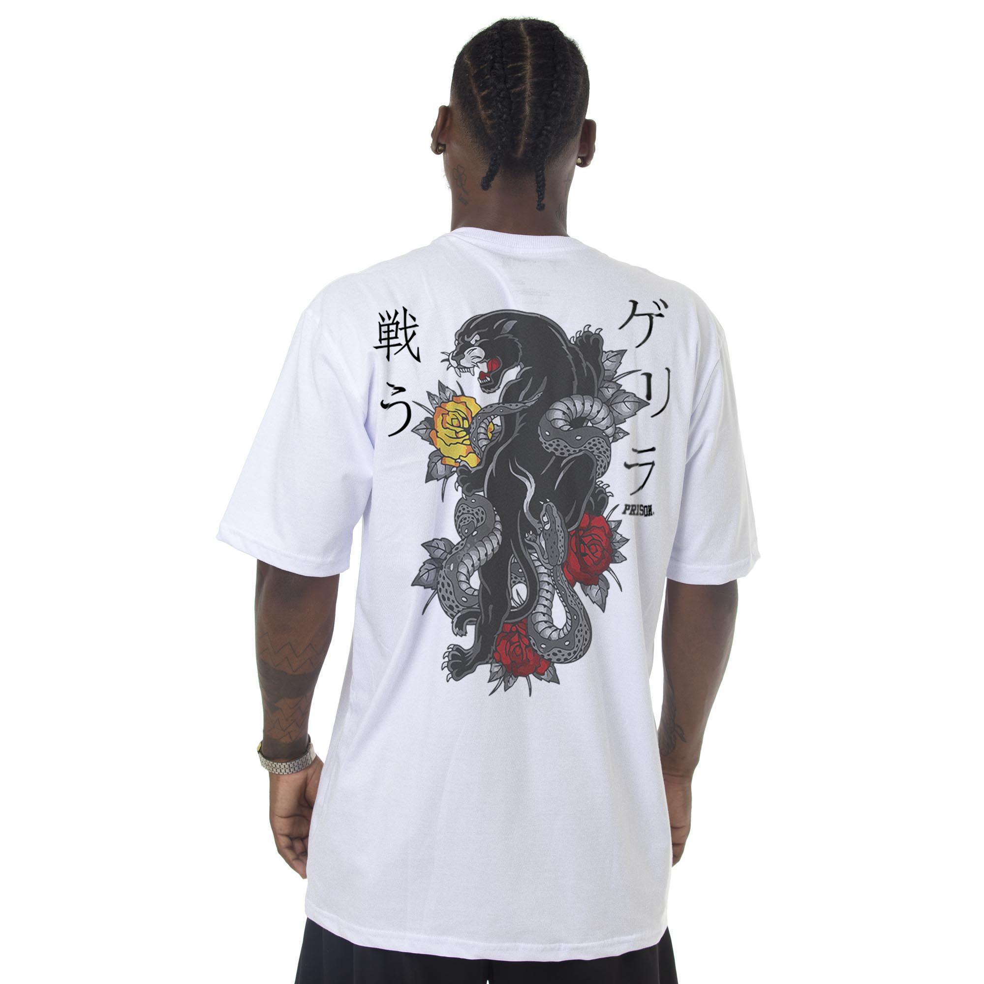 Camiseta Prison Tigers Branca