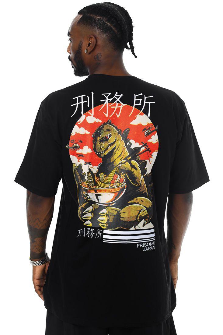 Camiseta Prison Tokyo Dragon Preta
