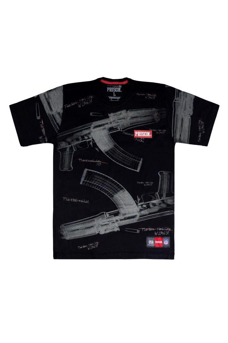 Camiseta Prison Total AK Preta