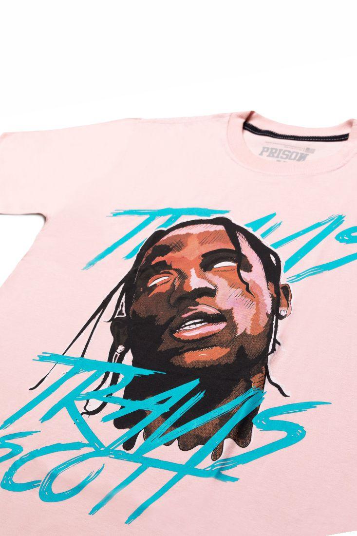 Camiseta Prison Travis Scott Rosa