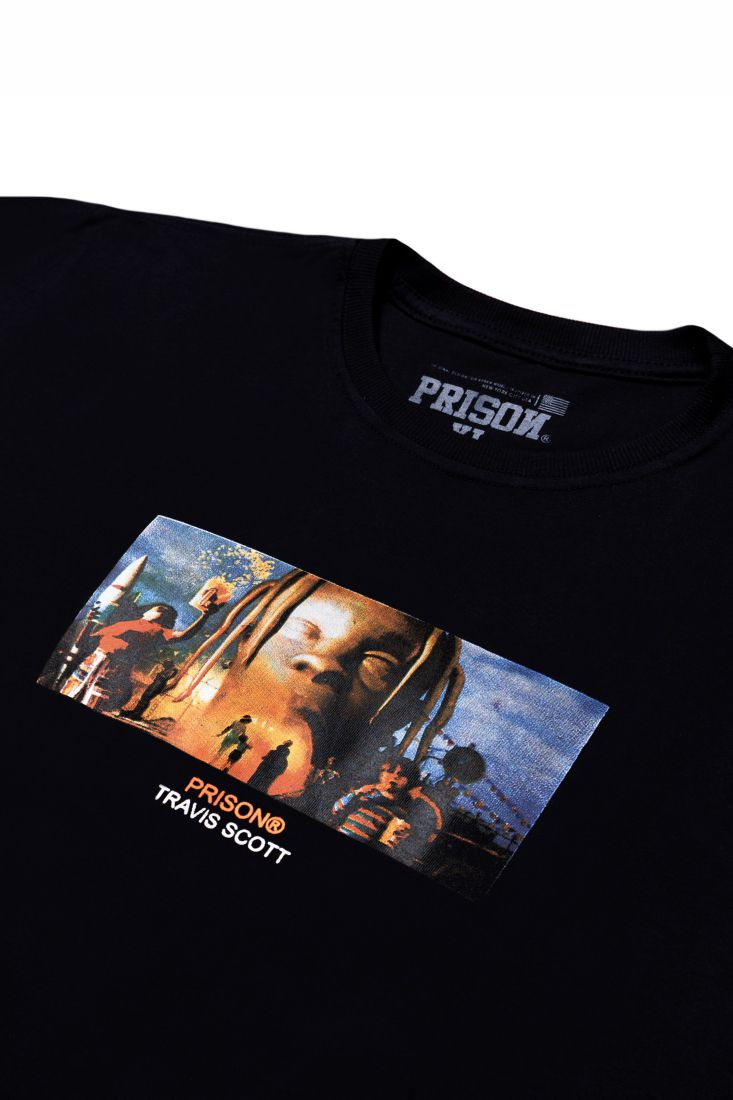 Camiseta Prison Travis World Preta