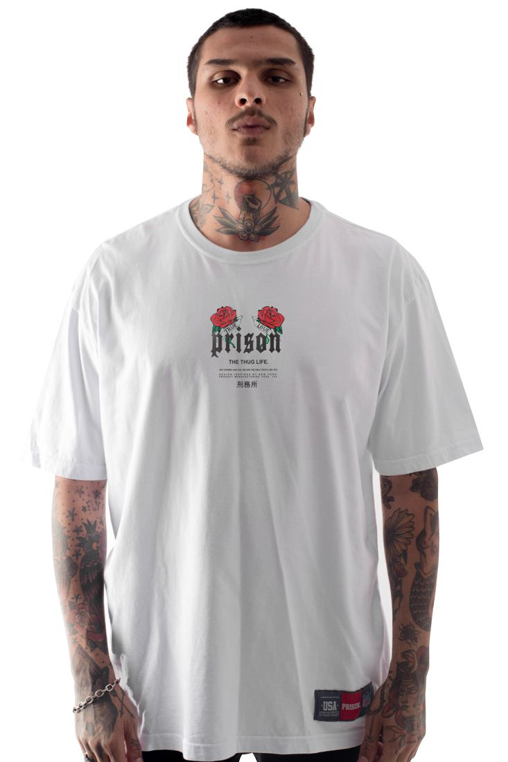 Camiseta Prison True Love Branca