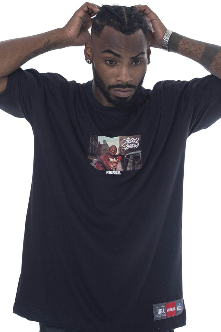 Camiseta Prison Tupac Preta