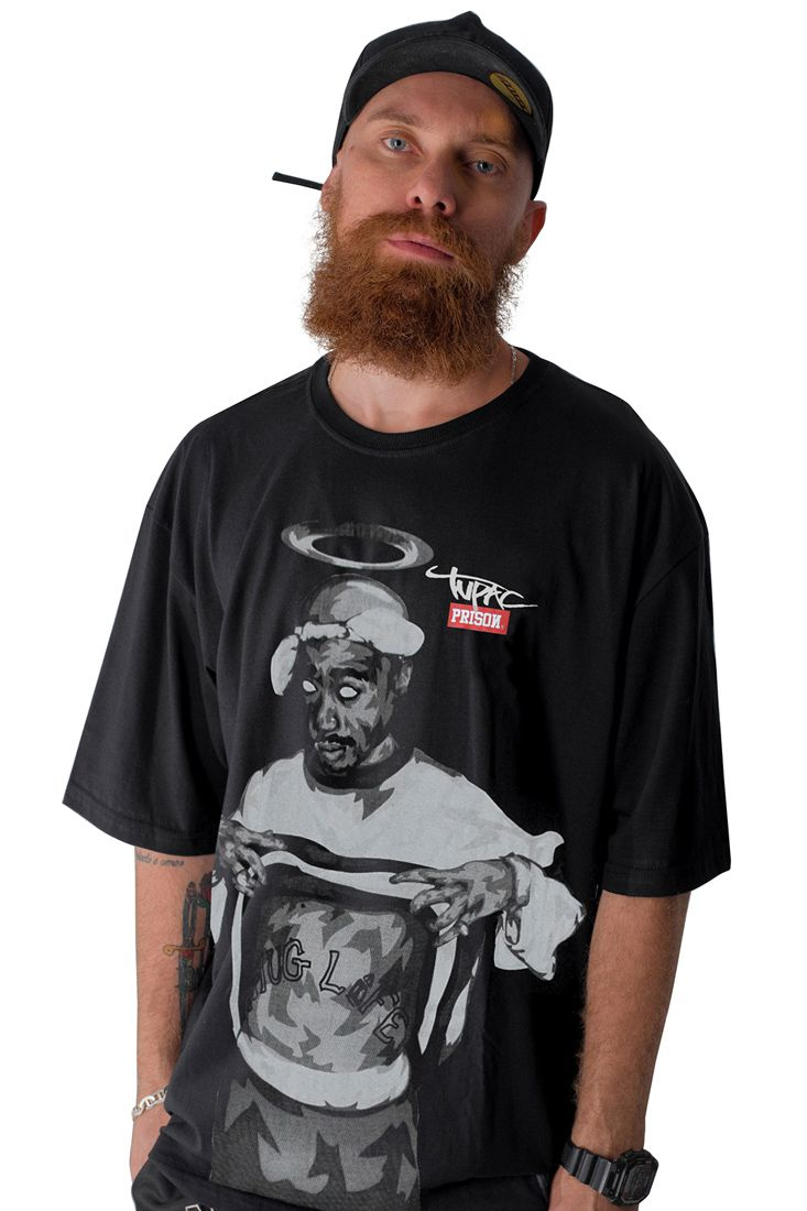 Camiseta Prison Tupac Thug Life Preta