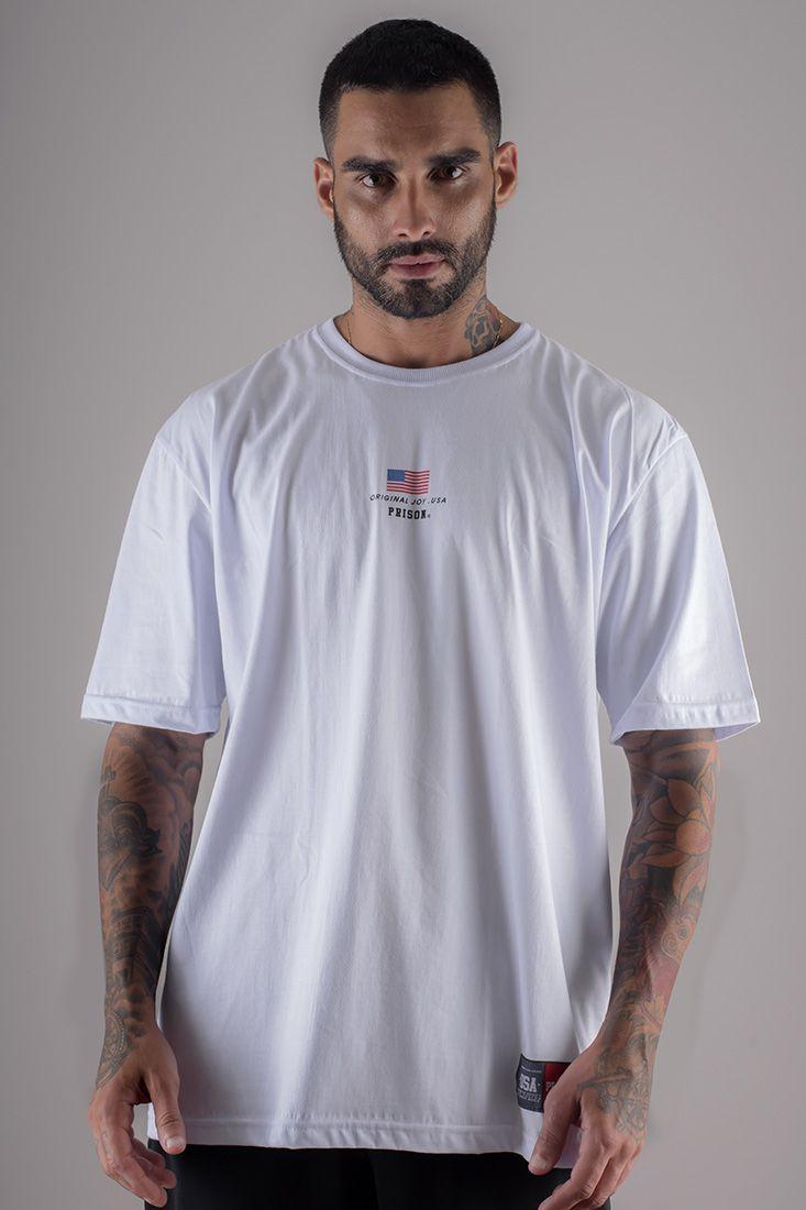Camiseta Prison Usa Box Branca