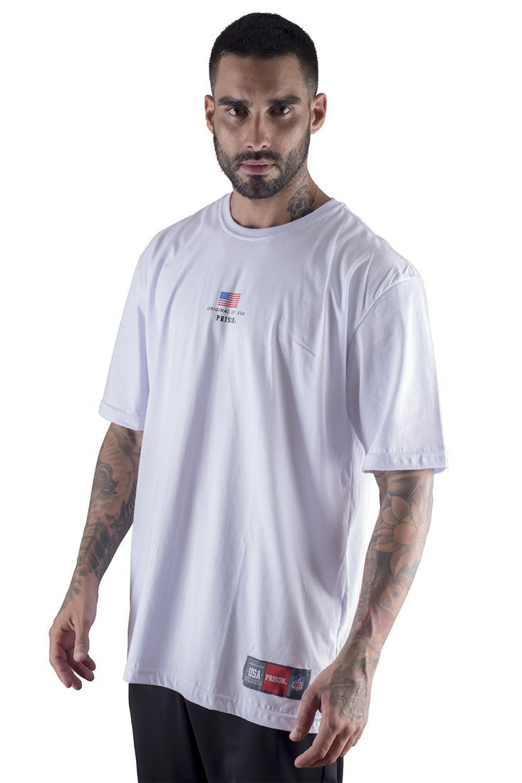 Camiseta Prison Usa Box Branca