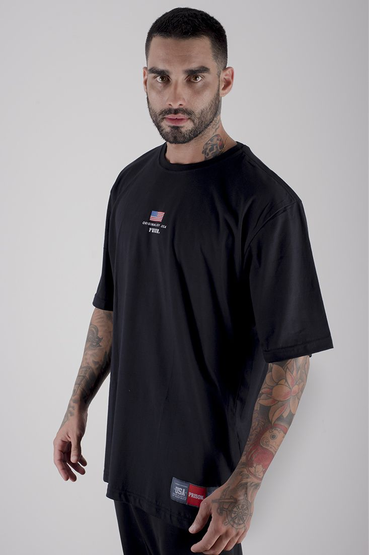 Camiseta Prison Usa Box Preta